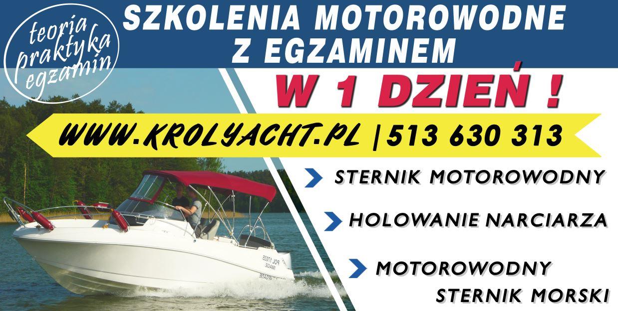 Sternik motorowodny z egzaminem w 1 dzien - TYLKO U NAS