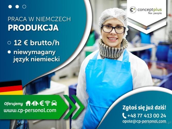 Pracownik produkcji (k/m) bez znajomości języka - nawet do 12,50 € brutto/h